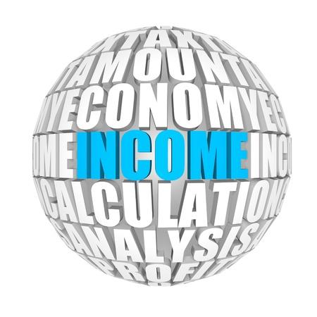 contribution: income Stock Photo