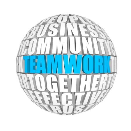 energy management: teamwork Stock Photo