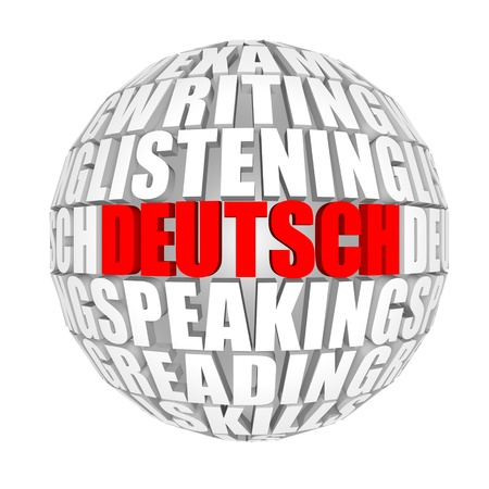 pronounce: deutsch Stock Photo