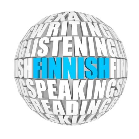 pronounce: finnish Stock Photo
