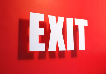 wayout: Exit somewhere near Stock Photo