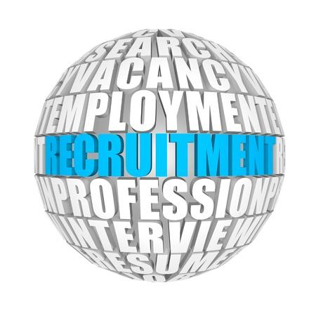 job skills: reclutamiento Foto de archivo