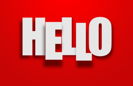 Hello world photo
