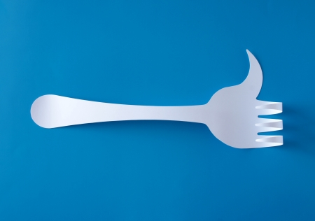 confirm confirmation: Like fork Stock Photo