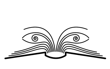 The concept of the book pages and eyes. photo