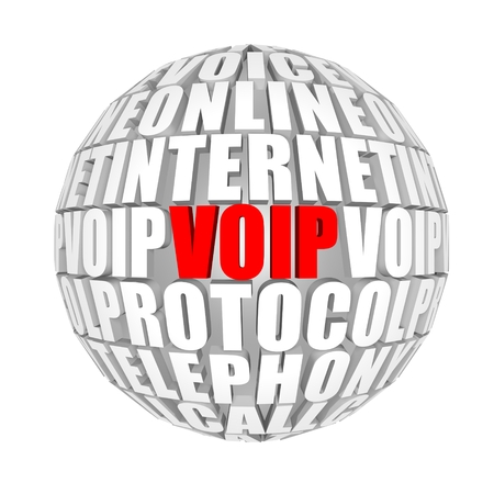 mobile voip: circle words on the ball on the topics