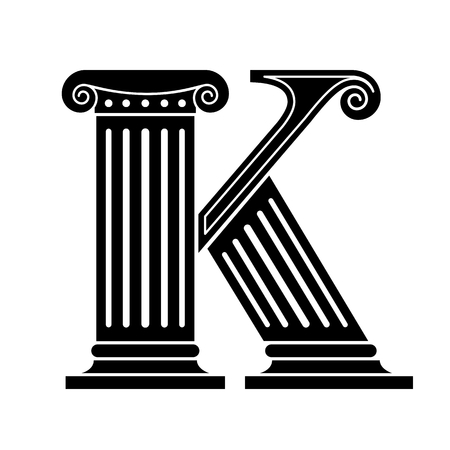 greek alphabet: Font made in the classic old style. Stock Photo