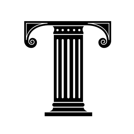 greek columns: Font made in the classic old style. Stock Photo