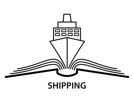 The concept of the book  and  shipping. Stock Photo