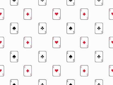 Card Seamless Pattern Ilustrace