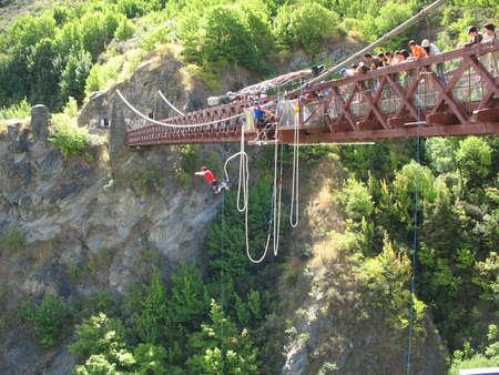 bungee jumping: Bungee Jumping, Queenstown, Nueva Zelanda