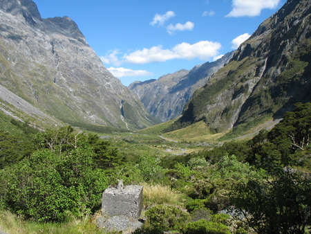 The road to Milford Sound, South Island, New Zealand photo