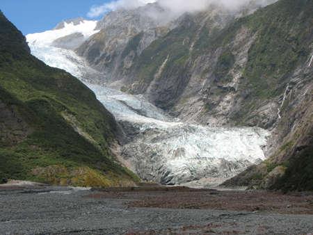 franz josef: Franz Josef Glacier, South Island, New Zealand Stock Photo