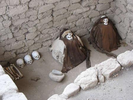 civilisation: Chauchilla Cemetary, Nasca, Peru Stock Photo