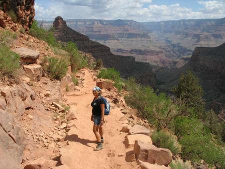 The hike to Plateau Point, Grand Canyon, USA photo