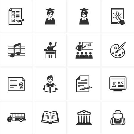 Conjunto de 16 iconos de la escuela y la educaci�n de grandes presentaciones, dise�o web, aplicaciones web, aplicaciones m�viles o cualquier tipo de proyectos de dise�o