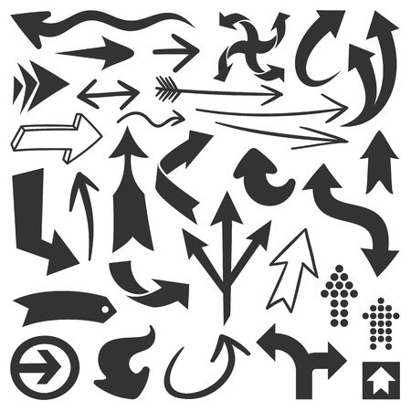 Set of black arrows great for any design projects