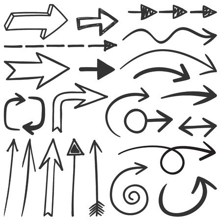 Set of black arrows great for any design projects  Illustration