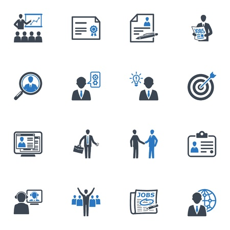 Employment and Business Icons - Blue Series
