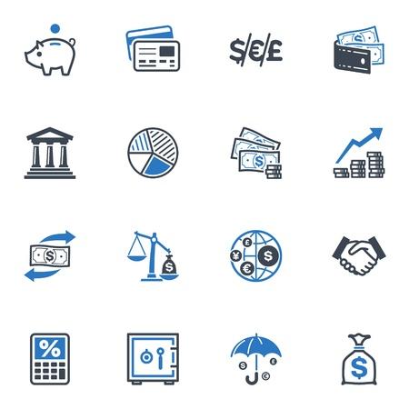 cuenta bancaria: Iconos Finanzas - Serie Azul