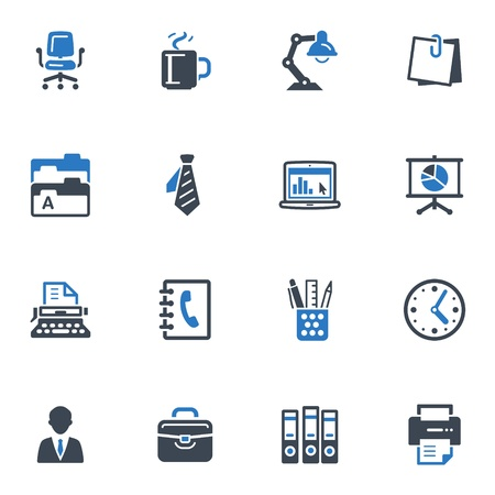 Office Icons - Serie Azul Vectores