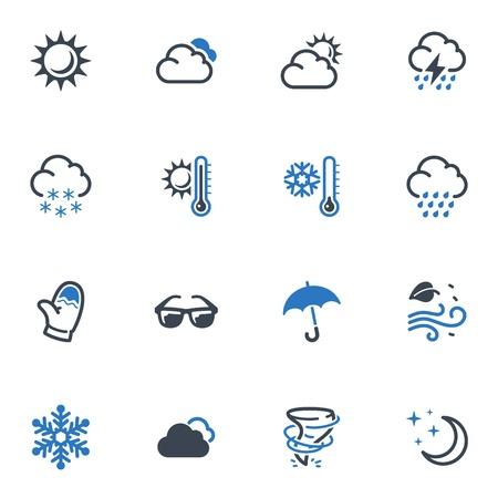 iconos del clima: Iconos del tiempo - serie azul