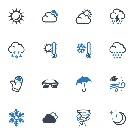 Weather Icons - Blue Series Illustration