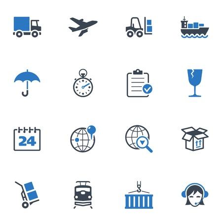 Logistics Icons - Blue Series 免版税图像 - 18025123