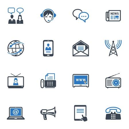 Iconos de Comunicaci�n Set 2 - Serie Azul Vectores