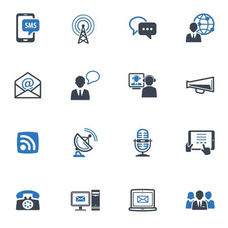 Communication Icons Set 1 - Blue Series Stock Vector - 18025136