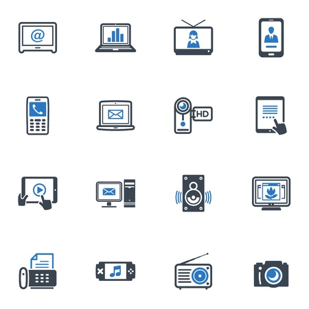 Electronics Icons - Blue Series Stock Vector - 18025126