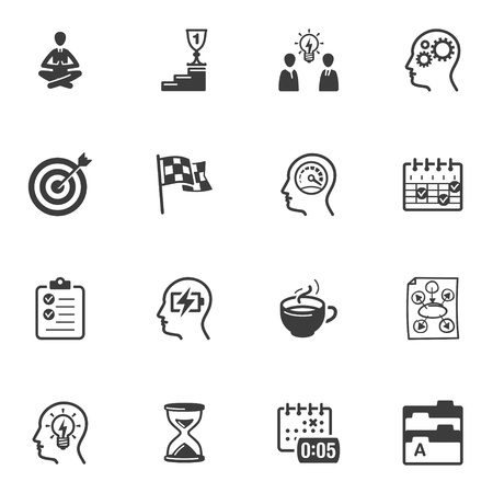 Productive at Work Icons Stock Vector - 18025119