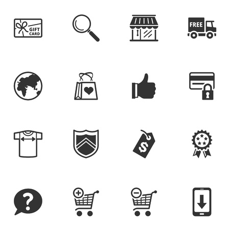 Shopping and E-commerce Icons - Set 2 Stock Vector - 18025134