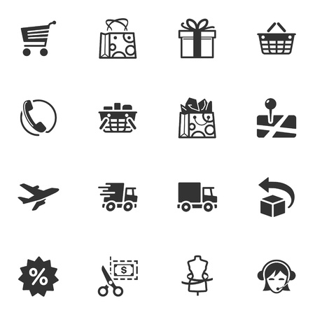 ecommerce icons: Shopping and E-commerce Icons - Set 1
