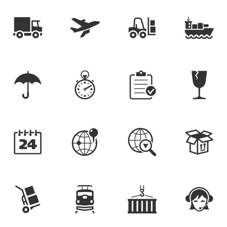 forklift truck: Logistics Icons