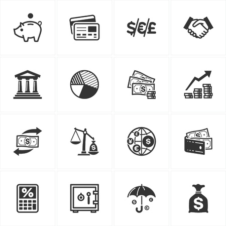 currency converter: Finance Icons Illustration