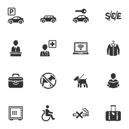 Hotel Services and Facilities Icons - Set 1