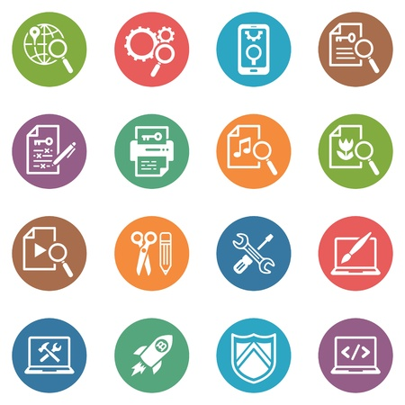 SEO and Internet Marketing Icons, Set 1 - Dot Series Vector