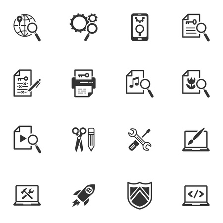 SEO and Internet Marketing Icons - Set 1 Vector