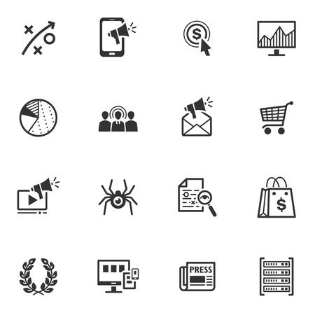 SEO y Marketing - Internet Icons Set 3