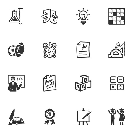lessons: School and Education Icons - Set 4