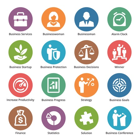 entreprise puzzle: Business Icons Set 1 - S�rie Dot