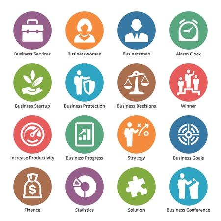 productividad: Business Icons Set 1 - Series Dot