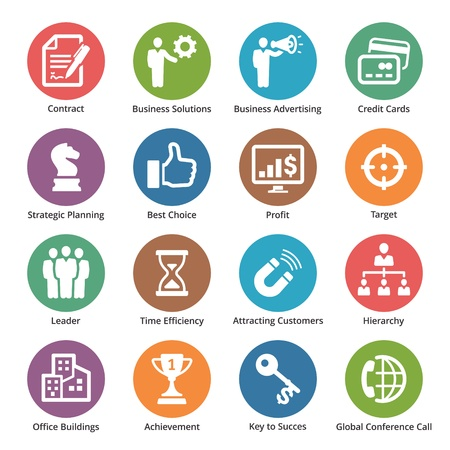 planowanie: Business Icons Set 2 - Seria Dot