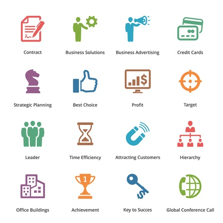 Business Icons Set 2 - Color Series Vectores