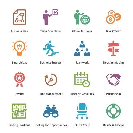 gestion del tiempo: Business Icons Set 3 - Color Series