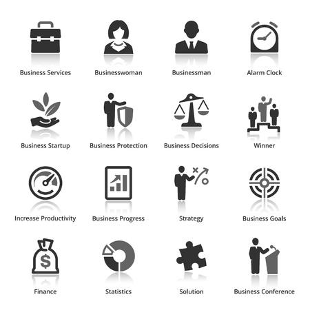 ビジネス アイコン - セット 1  イラスト・ベクター素材