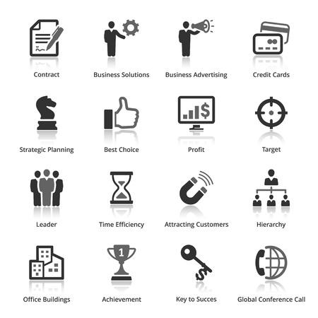 bar magnet: Business Icons - Set 2 Illustration