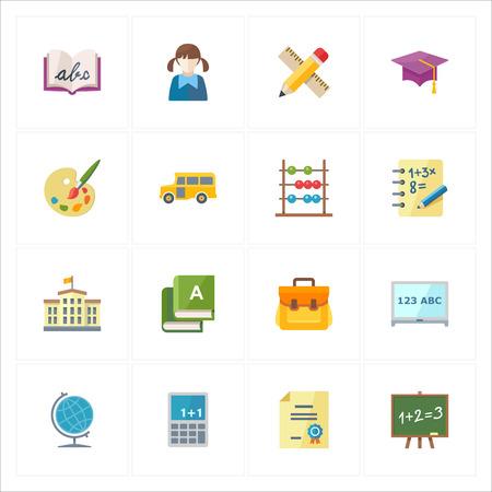 Piso iconos de la educaci�n - conjunto 1