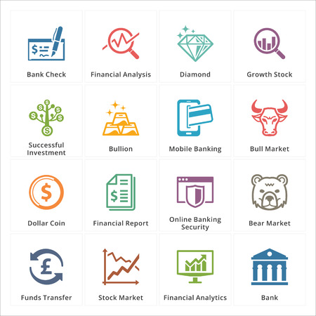 Personal Business Finance Icons - Set 1 Stock Illustratie